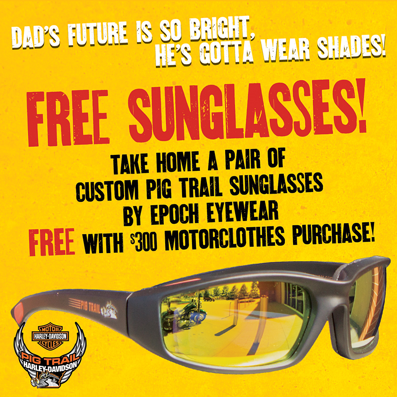 4a125f5b696 Father s Day Gifts For Every Dad. FREE Pig Trail Custom Sunglasses by Epoch  with  300 MotorClothes Purchase